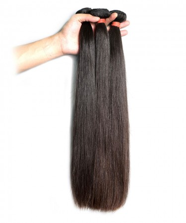 CARA 100% Human Hair Bundles 8''-30'' Peruvian Virgin Hair Human Hair Weave Straight Hair Extension