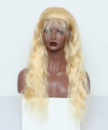 Lace Front Human Hair Wigs 150% Density Straight/Body Wave with Baby Hair #613 Color