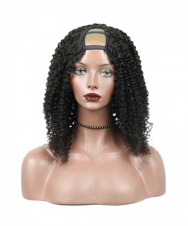 CARA Brazilian Kinky Curly U Part Wig 18inch Lace Front Wigs Human Hair