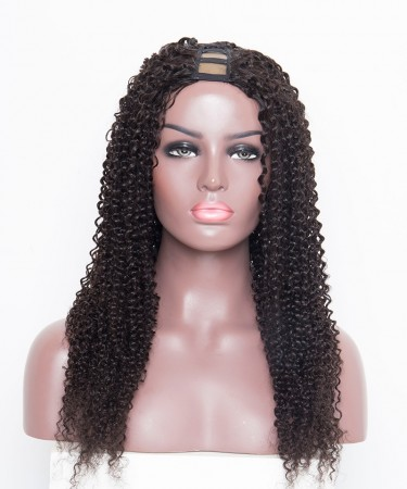 U Part Human Hair Wigs For Black Women Kinky Curly 100% Brazilian U Part Wigs
