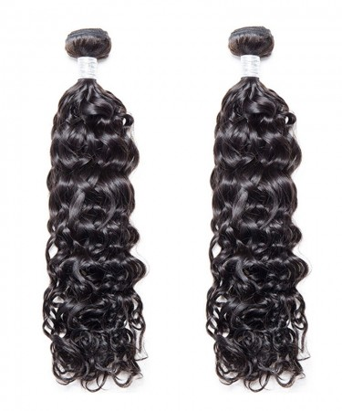 CARA 2 Pcs Water Wave Brazilian Virgin Hair Bundles Cutile Kept Remy Hair Weaves
