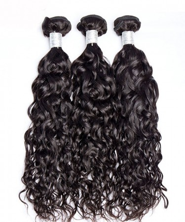 CARA Water Wave Malaysion Virgin Hair 3 Pcs  Bundles Cutile Kept Remy Hair Weaves
