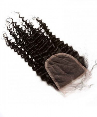 CARA Brazilian Virgin Hair Kinky Curly Human Hair Lace Closure 4x4 Lace Size