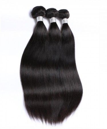 CARA Peruvian Virgin Hair Yaki Straight Bundles 100% Human Hair 3 Pcs