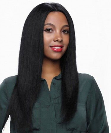 Light Yaki Straight Lace Front Human Hair Wigs 250% Density