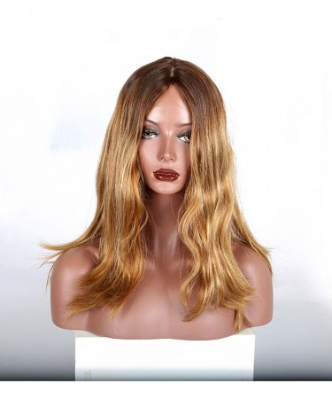 CARA Kosher Wig Jewish Lace Wigs European virgin hair Straight ombre color silk top free shipping