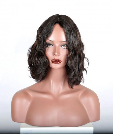 CARA Silk Top Kosher Wig Bouncy Wavy 1b/30 Highlight Jewish Wig