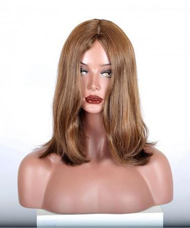 CARA 9A European Virgin Hair Straight Jewish Wig Silk Top Kosher Wig
