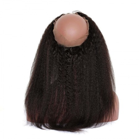 CARA Pre Plucked Kinky Straight 360 Lace Frontal Closure With Baby Hair