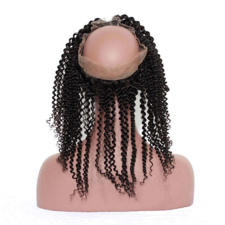 CARA Pre Plucked Kinky Curly 360 Lace Frontal Closure With Baby Hair
