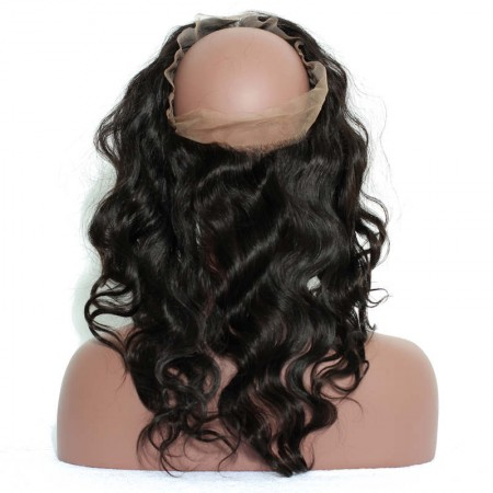 CARA Pre Plucked 360 Lace Frontal Closure Body Wave With Baby Hair Free Part