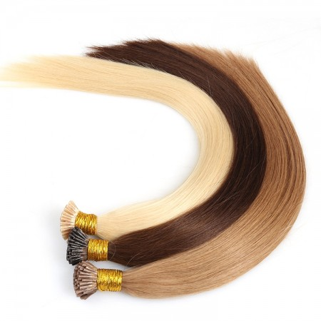 CARA Full Cuticle Aligned Remy Human Hair Double Drawn I Tip Extension