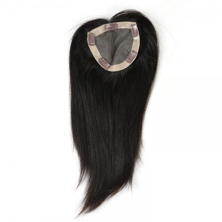 CARA Brazilian Virgin Hair Straight Clip In Toupee Hairpieces For Women 5x5