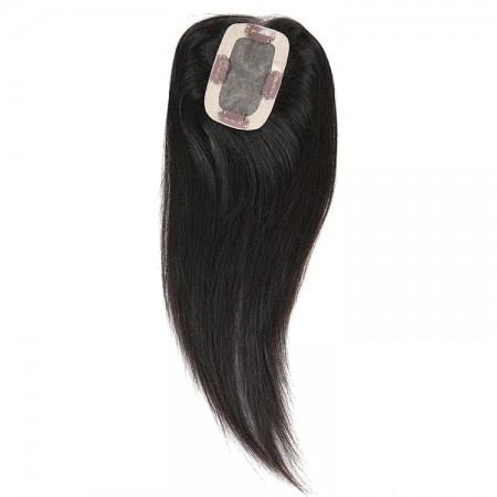 CARA Clip In Toupee Hairpieces For Women Straight 2.5X4 Brazilian Virgin Hair