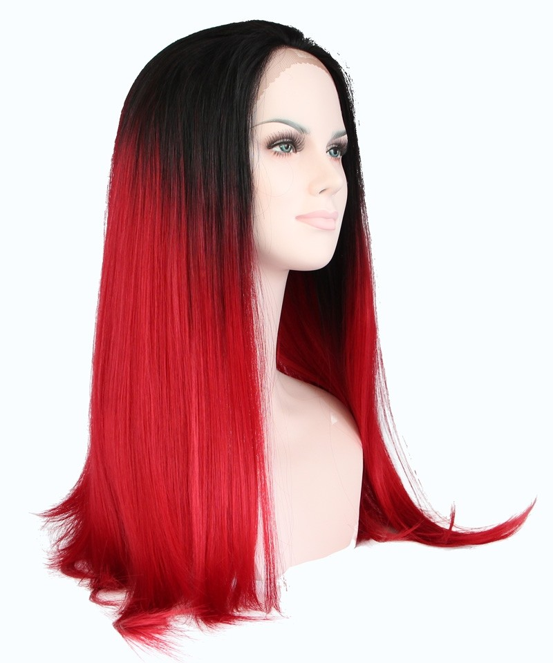 Cara 1b Red Ombre Wigs Women Fashion Synthetic Wig Lace