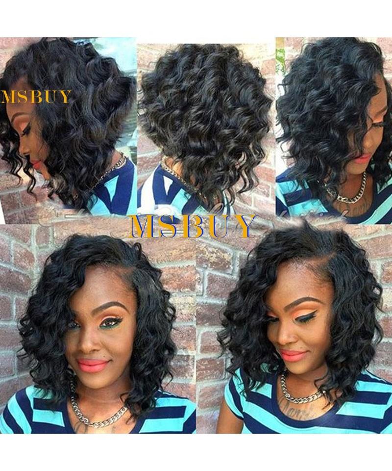 Cara Bob Lace Front Human Hair Wigs Loose Wave 250 Density Short