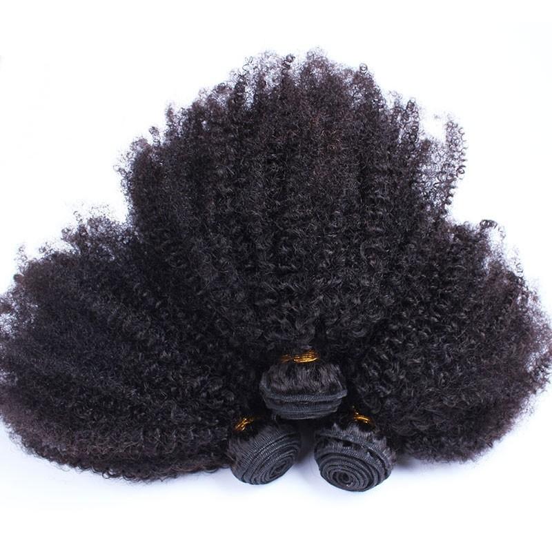 Cara Hair Peruvian Afro Kinky Curly Hair Weave 4b 4c 100 Natural
