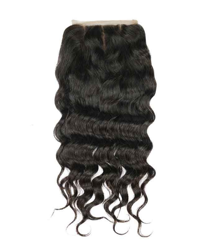 Cara Brazilian Loose Wave Virgin Hair 5x5 Lace Closure Natural Color