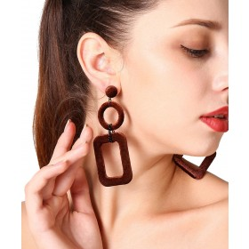 1Pcs European and American accessories style simple fashion fashion street patting lotus women's earring earrings.