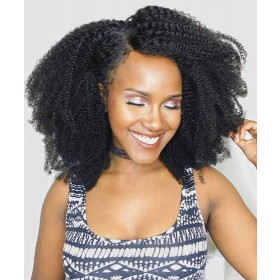 Lace Front Human Hair Wigs Afro Kinky Curly 150% Density 4B 4C Hair