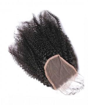 CARA 100% Human Hair Top Closure 4x4 Lace Closure Afro Kinky Curly