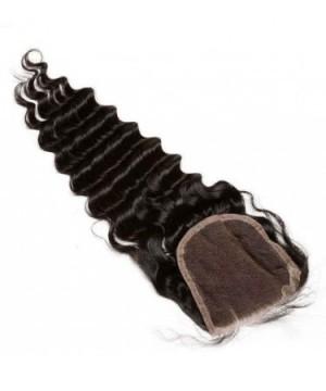 CARA Deep Wave Human Hair Lace Closure 4x4 Lace Size Brazilian Virgin Hair