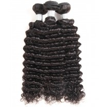 CARA Brazilian Hair Weave Bundles Deep Wave 3 Pcs Brazilian Virgin Hair Extensions