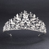 Leaf flower pearl bridal crown 1PCS