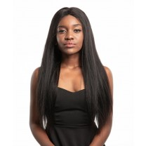 CARA Brazilian Yaki Straight 13x6 Lace Front Human Hair Wigs 250% Density Pre Plucked Deep Part Wig