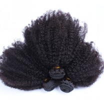 CARA HAIR Peruvian Afro Kinky Curly Hair Weave 4B 4C 100% Natural Hair Weave 3Pieces
