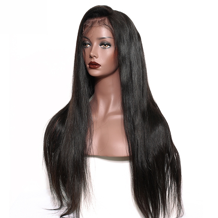 13x6 Straight Lace Front Human Hair Wigs Natural Black 250% Density Brazilian Human Hair Wigs For Women