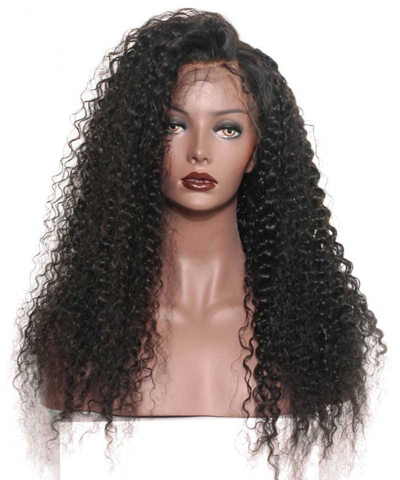 deep curly lace front wigs