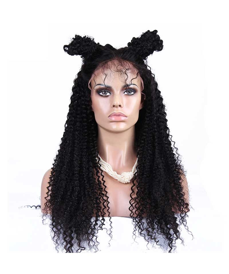 kinky curly silk base wig